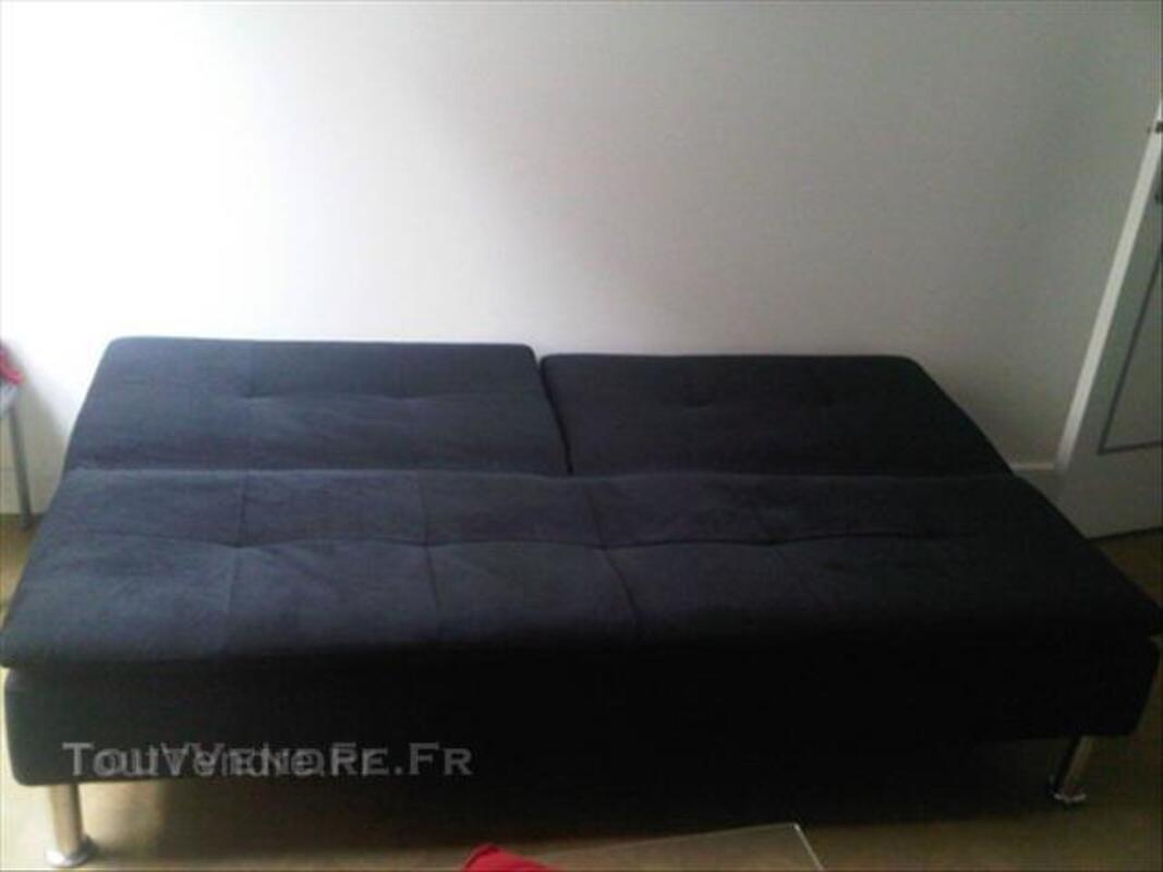 Banquette noire 3 places convertible 45856095