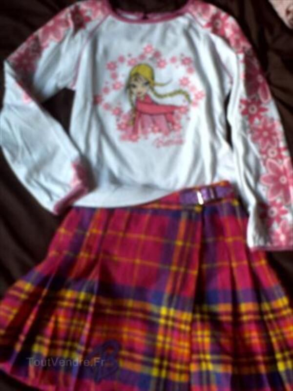 Barbie haut + jupe 6 ans + pantalon barbie 56537273