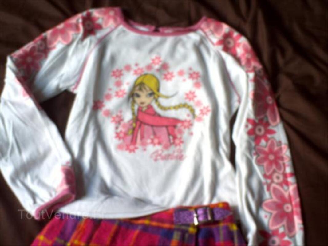 Barbie haut + jupe 6 ans + pantalon barbie 56537275