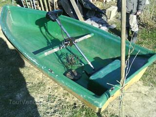 Barque en fibre de verre + moteur électrique