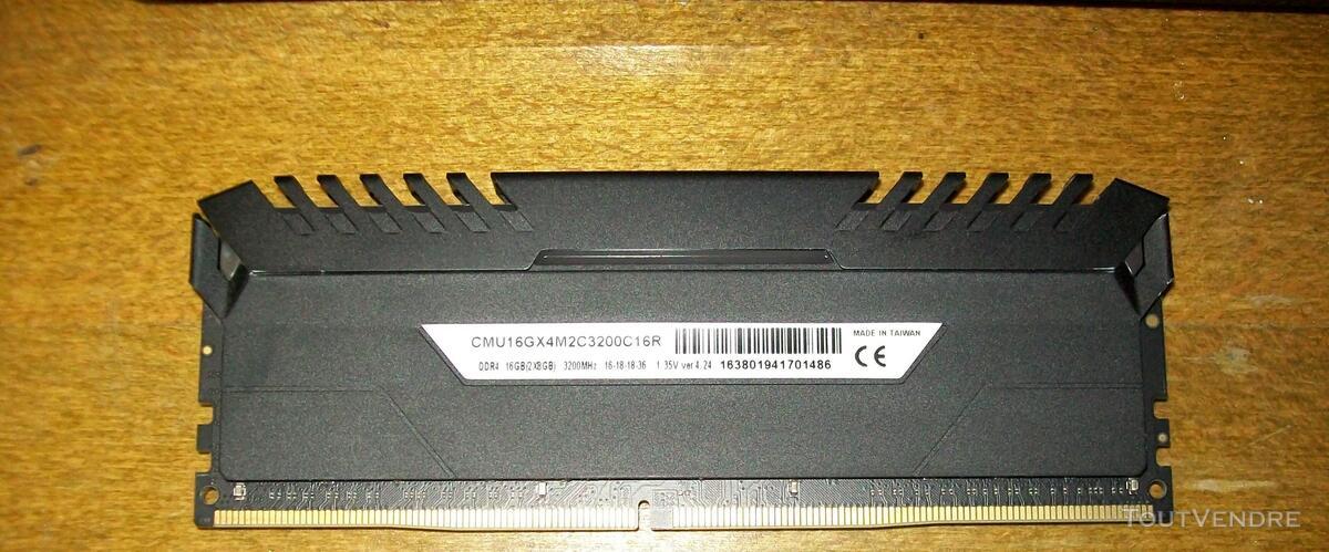Barrette Mèmoire DDR4 CORSAIR LED 3200 Mhz 480781671