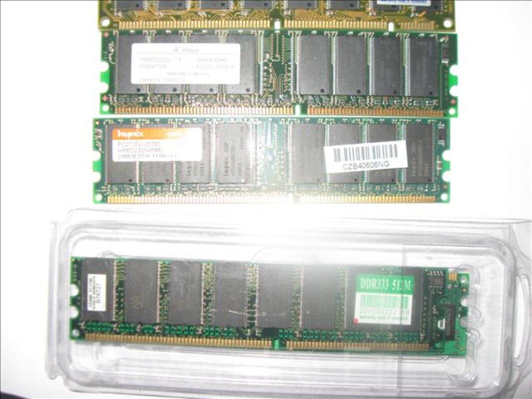 Barrettes mémoires  type DDR1 de 32MO à 1GO  -ordi PC 333 92675866