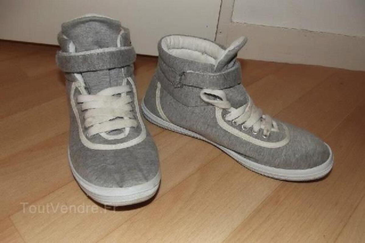 Baskets montantes grises 92178882