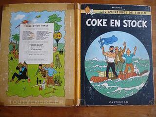 BD TINTIN COKE EN STOCK 1958