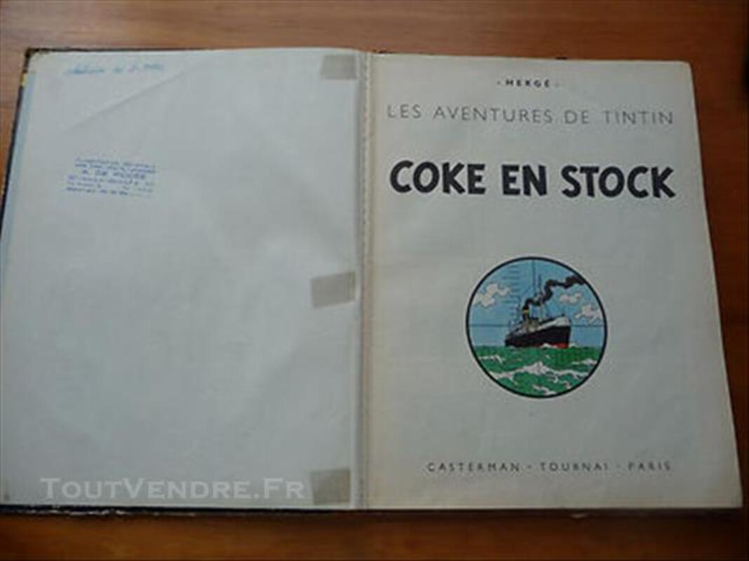 BD TINTIN COKE EN STOCK 1958 76868311