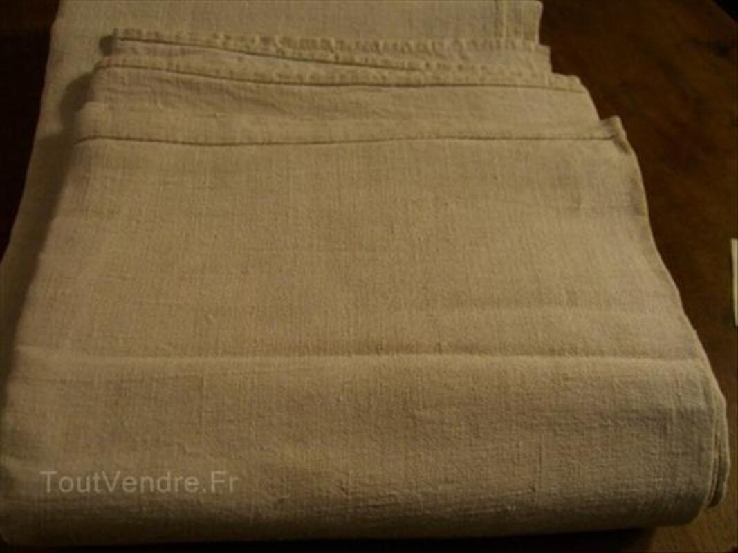 Beau drap ancien lin et chanvre 208/260 cms 56393534