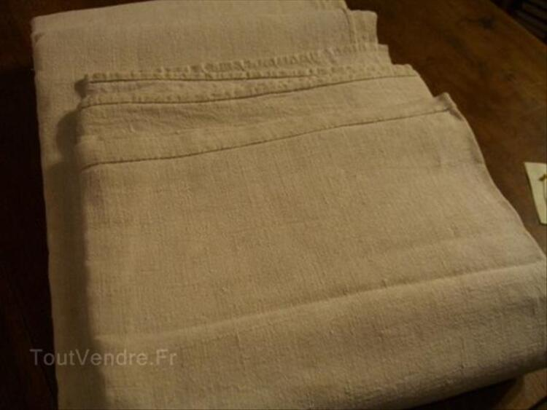 Beau drap ancien lin et chanvre 208/260 cms 56393535