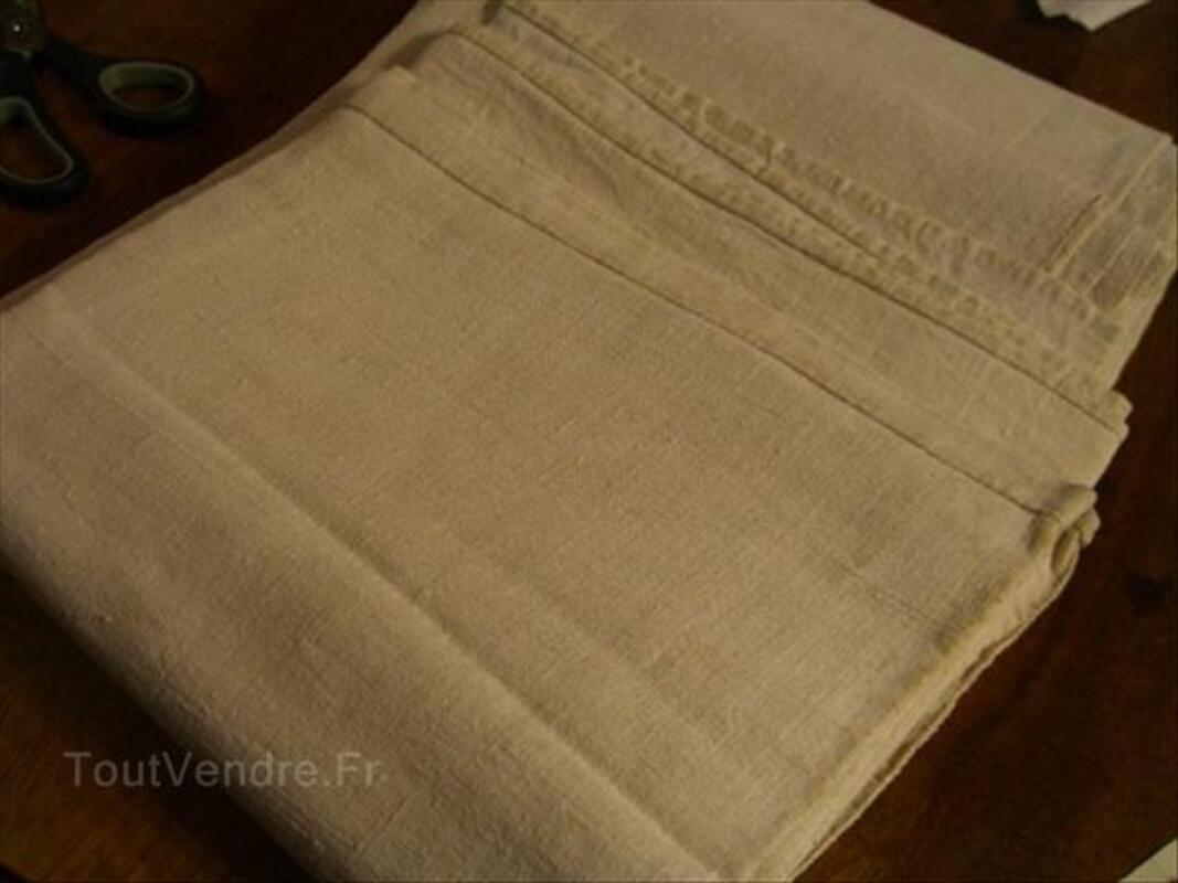 Beau drap ancien lin et chanvre 208/260 cms 56393536