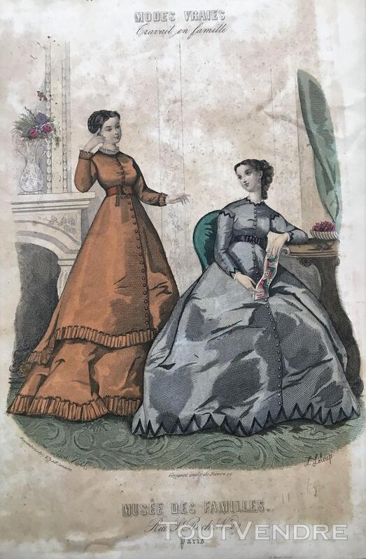Belle Gravure de Laure NOEL -(MUSÉE DES FAMILLES) 376502055