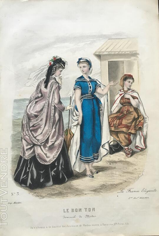 Belle gravure du 1er Août 1872 (HÉLOÏSE LELOIR) 376506954