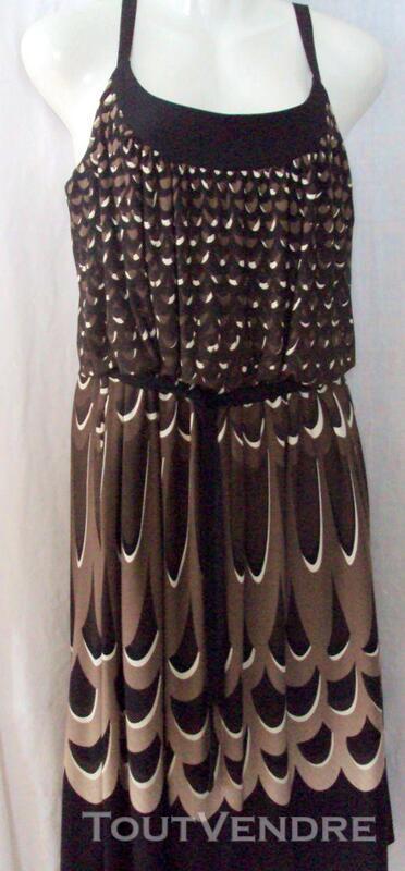 Belle robe marron & noire chic 40 243588240