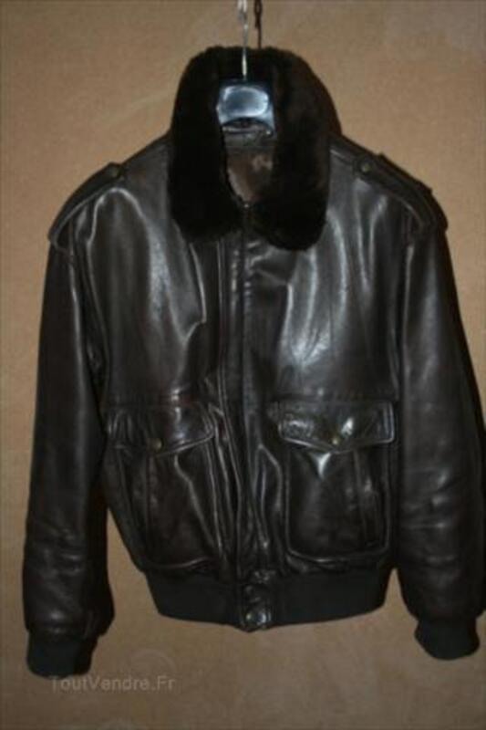 "Blouson cuir homme type ""Flight Jacket"" 64480325"