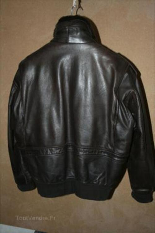 "Blouson cuir homme type ""Flight Jacket"" 64480326"