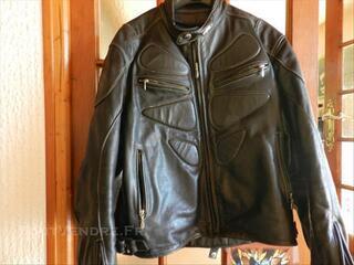 Blouson moto cuir homme