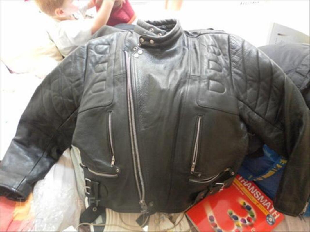 Blouson moto cuir vintage 64574033