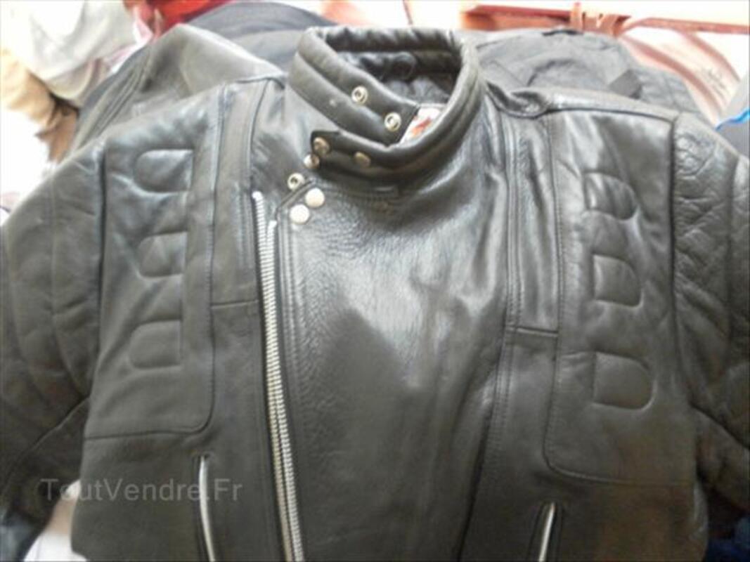 Blouson moto cuir vintage 64574034