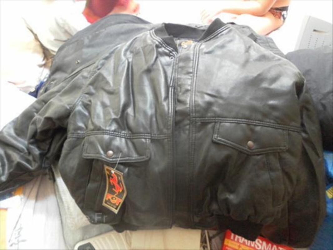 Blouson moto cuir vintage 64574035