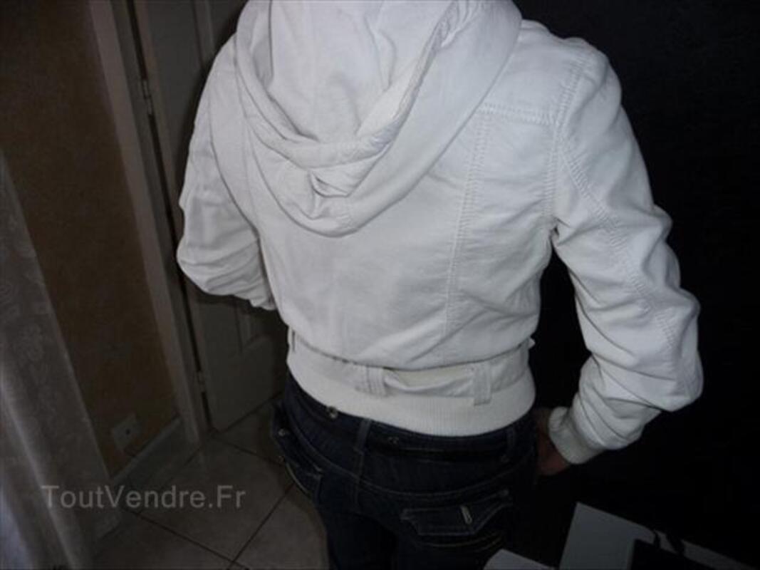 Blouson skai blanche+sac 56457083