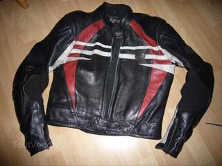 Blouson veste moto Hein Gericke + dorsale bon état