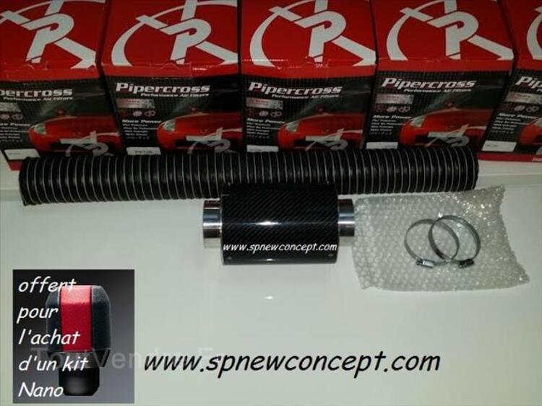 Boite à air dynamique carbone Pipercross Nano 90457363