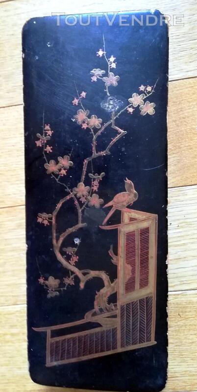Boite ancienne laquée oiseau Chine 448739206