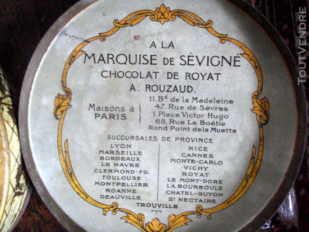 Boite métal la marquise de Sévigné ancienne 147584446