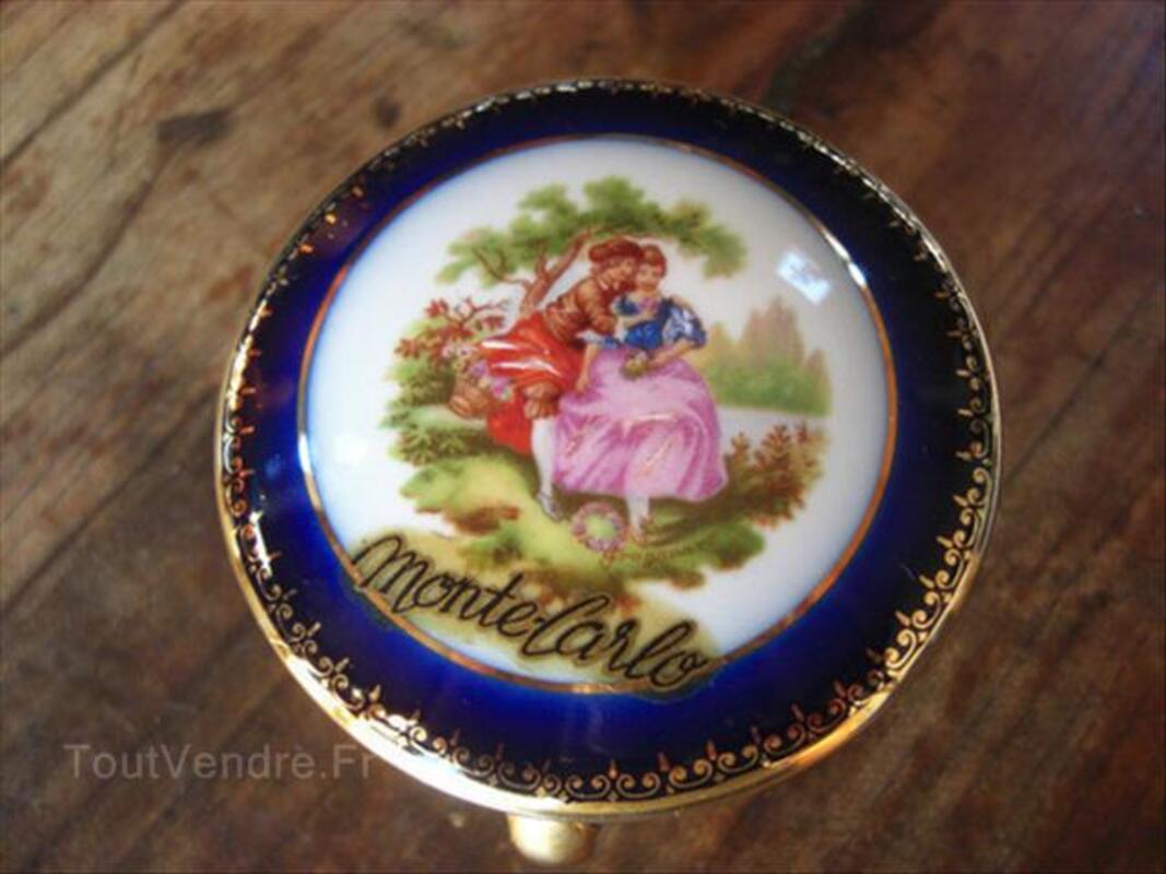 Boite porcelaine limoges bleu de four 71322857