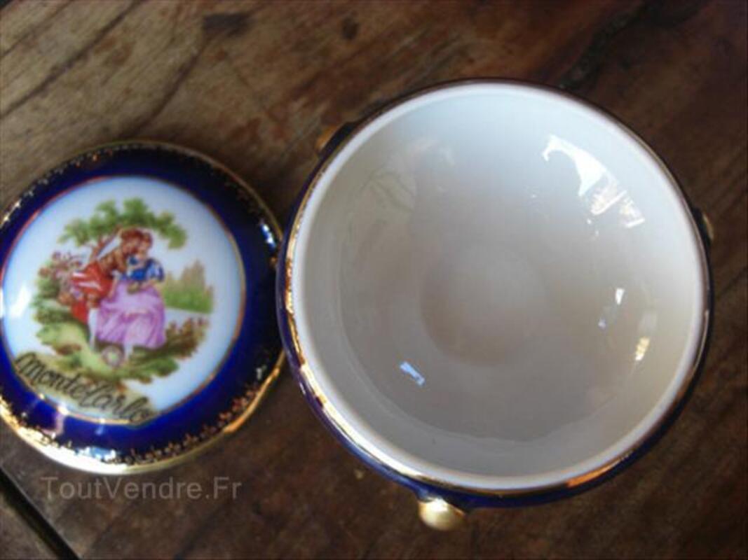 Boite porcelaine limoges bleu de four 71322858