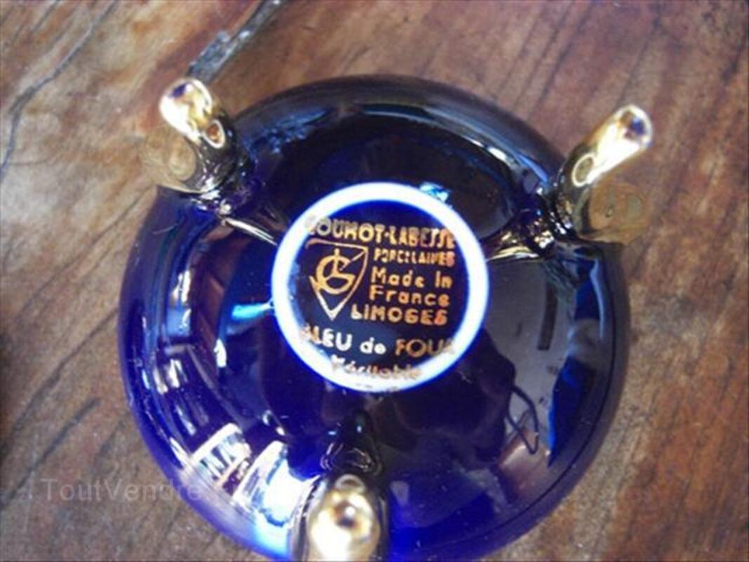 Boite porcelaine limoges bleu de four 71322859