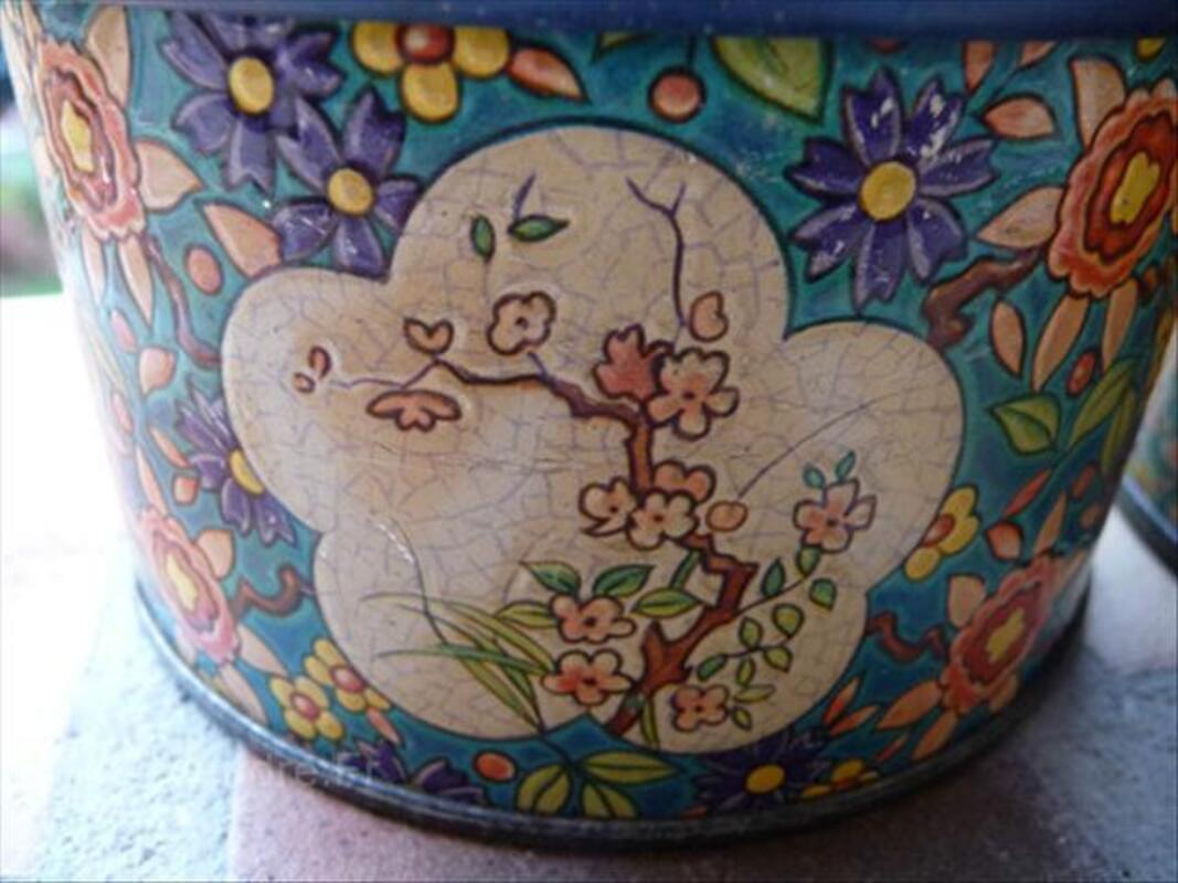 Boites anciennes en tole décor Longwy 56064110