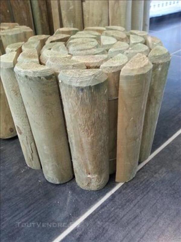 Bordures bois de châtaignier qualité A BAS PRIX 80853531
