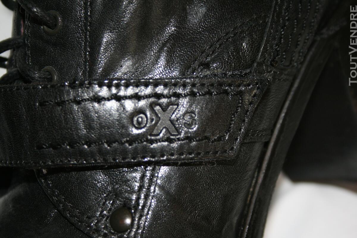 Botte en cuir noir OXS 125331028