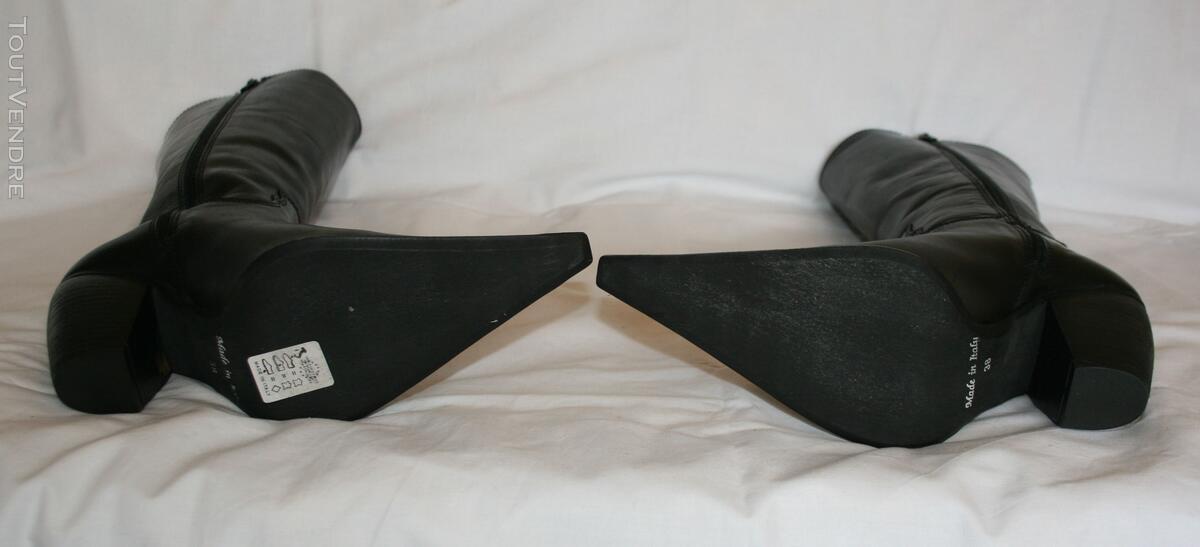 Botte en cuir noir style TIAG 125331031
