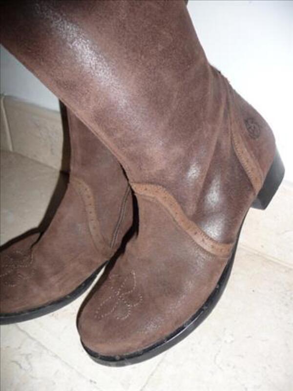 Botte sportive cavalière~BILL TORNADE~Daim brun~38 86271867