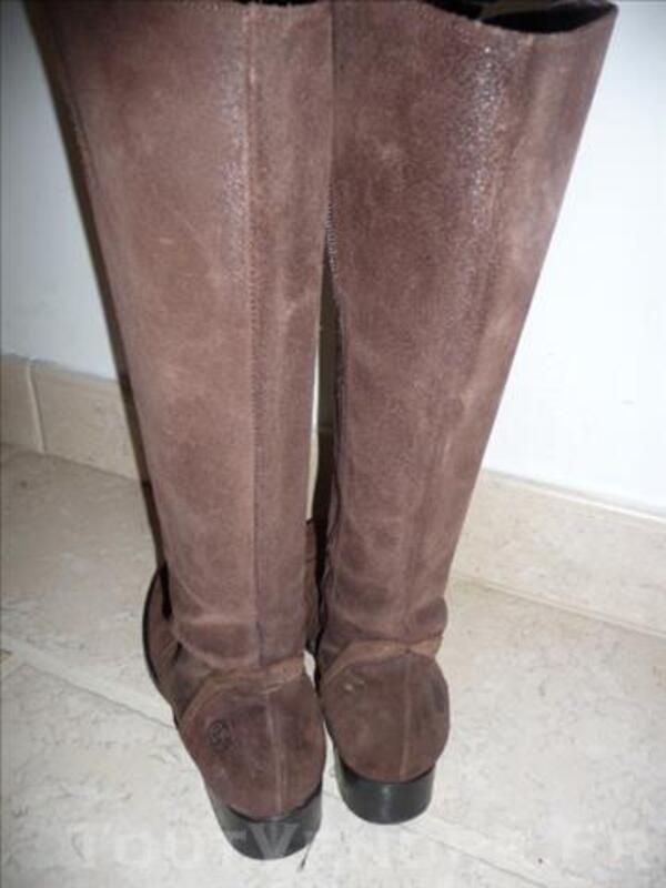 Botte sportive cavalière~BILL TORNADE~Daim brun~38 86271868