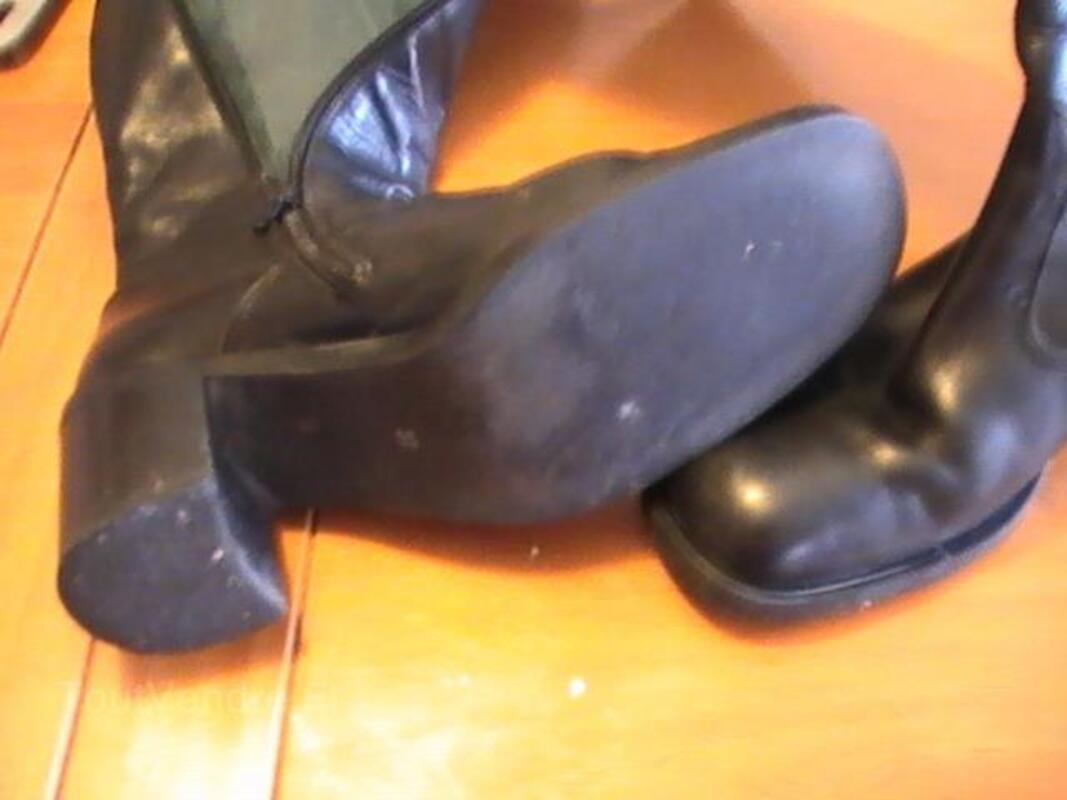 Bottes cuir noir 37 san marina 92718172
