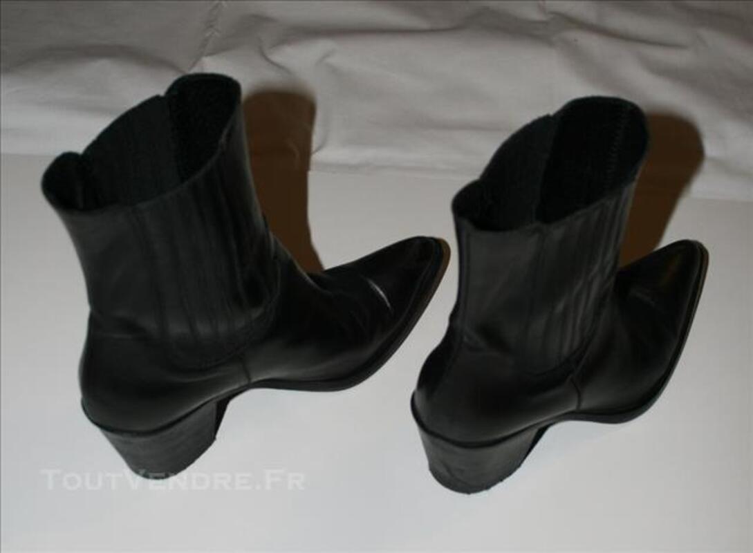 Bottine style Tiag en cuir noir 78060278