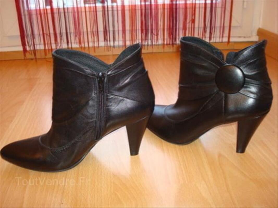 Bottines  CUIR MINELLI noires Femme , pointure 38 56254338