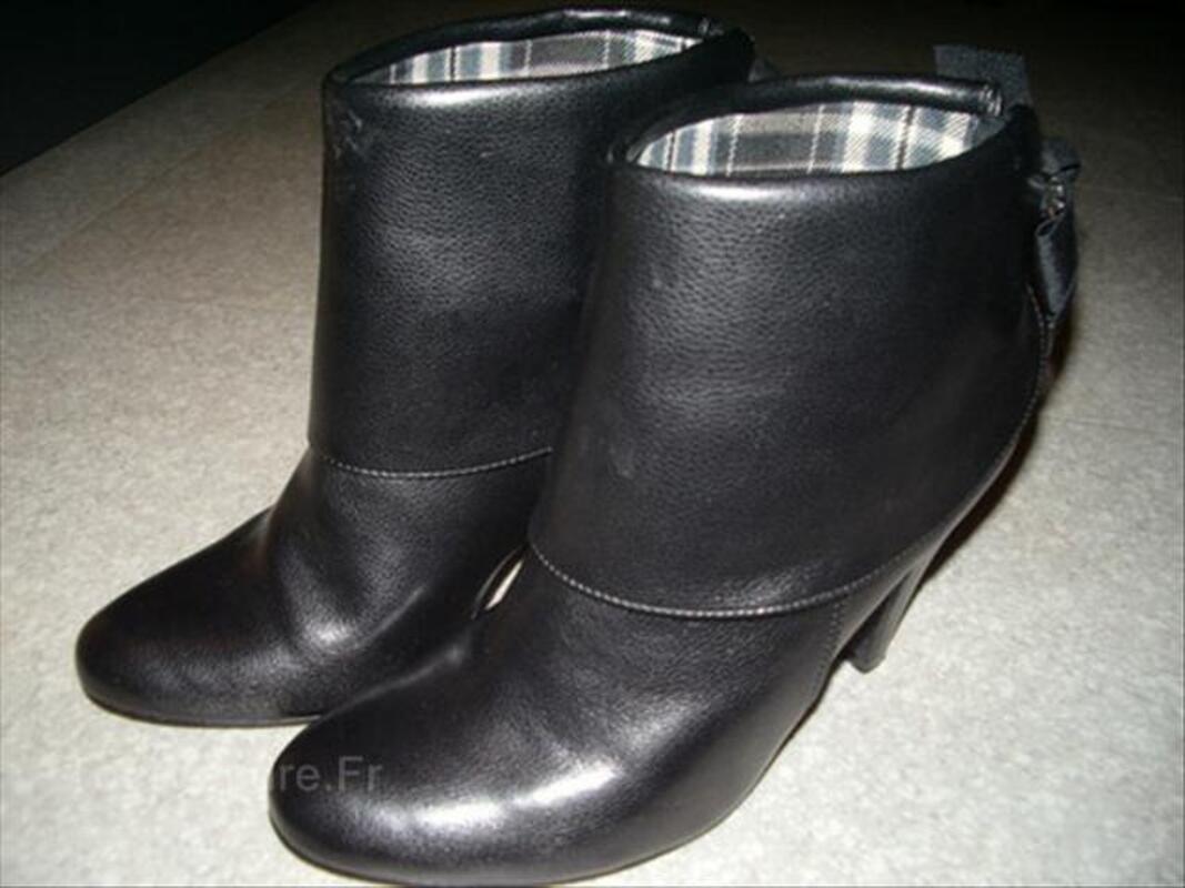 Bottines cuir noir femme 49398943