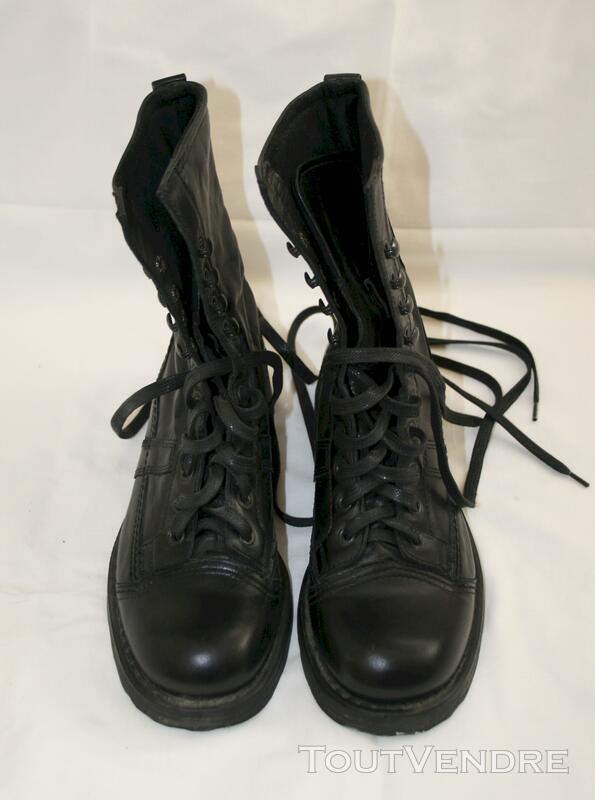 Bottines OXS cuir noir 113662021