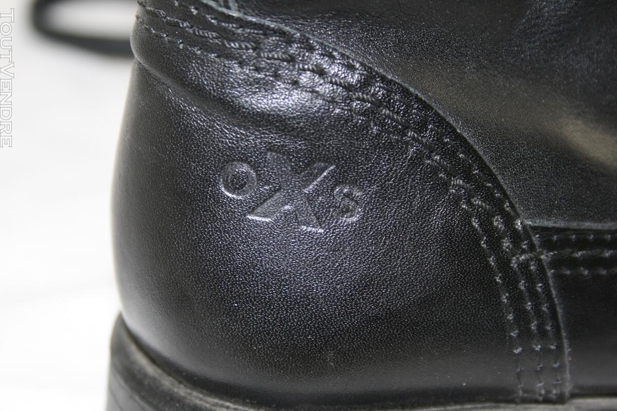 Bottines OXS cuir noir 113662024