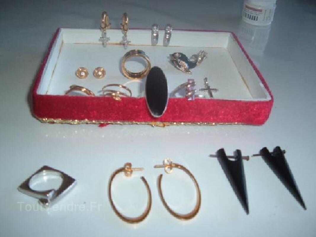 Boucles d'oreille, bague , broche , pendentif plaqué or 91485871