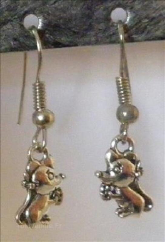 Boucles d'oreilles fantaisie souris créateur made in France 102249135