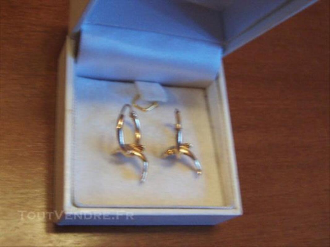 Boucles oreilles créoles dauphins plaque or 86141968