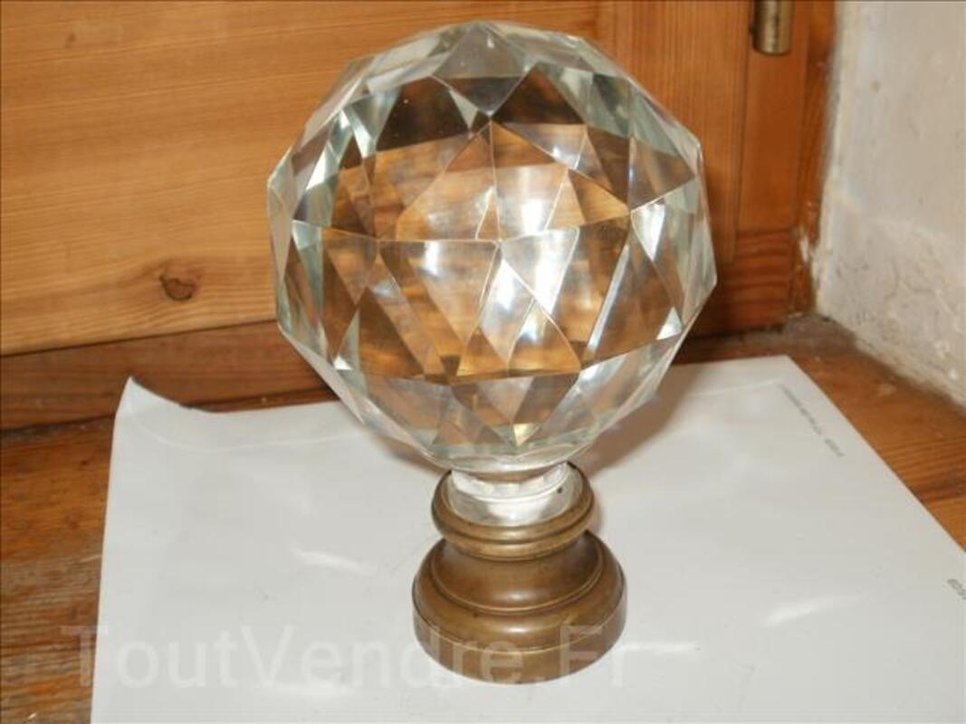 Boule de départ rampe d'escalier en cristal 1900 93103855