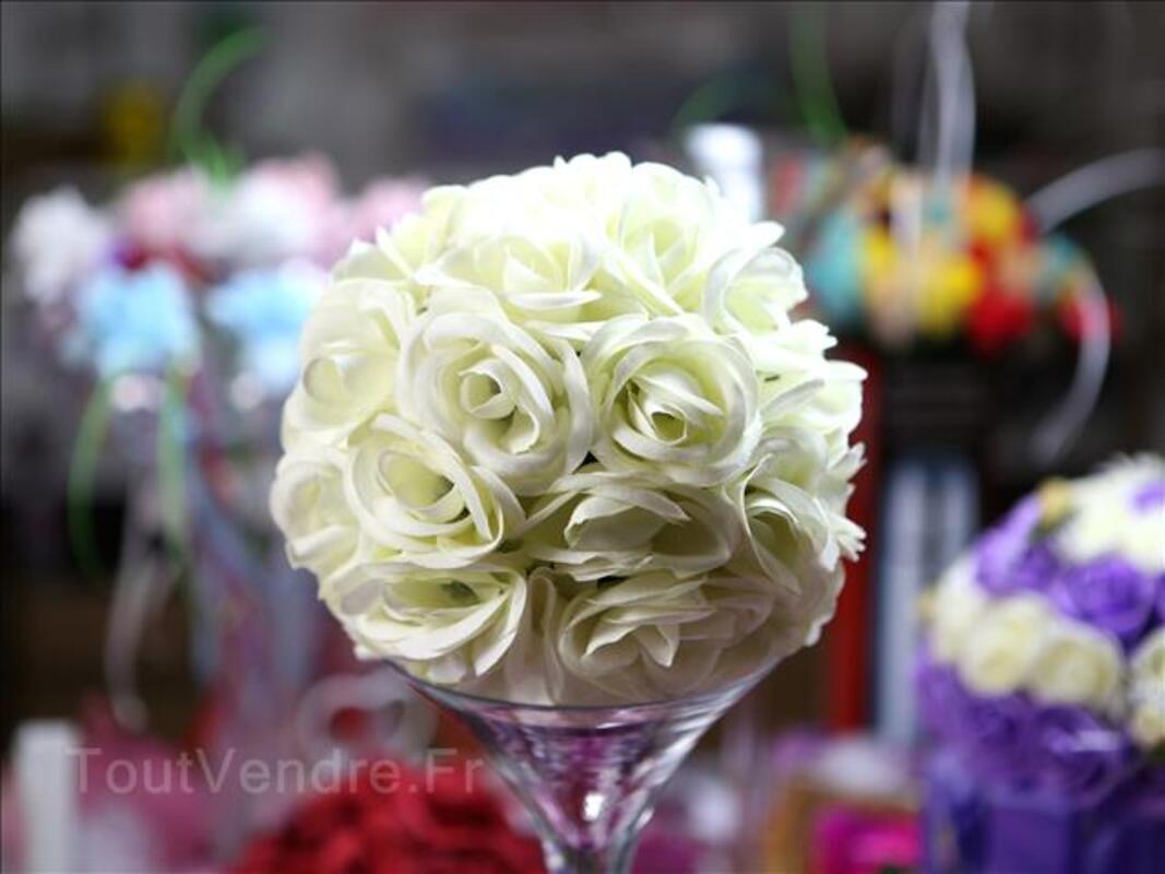Boule de roses ivoire Ø20cm pour centre de table 97730940