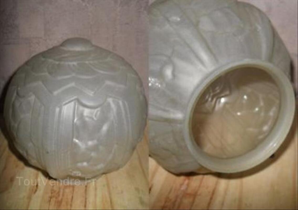 Boule  pate de verre pour lustre art deco 64635910