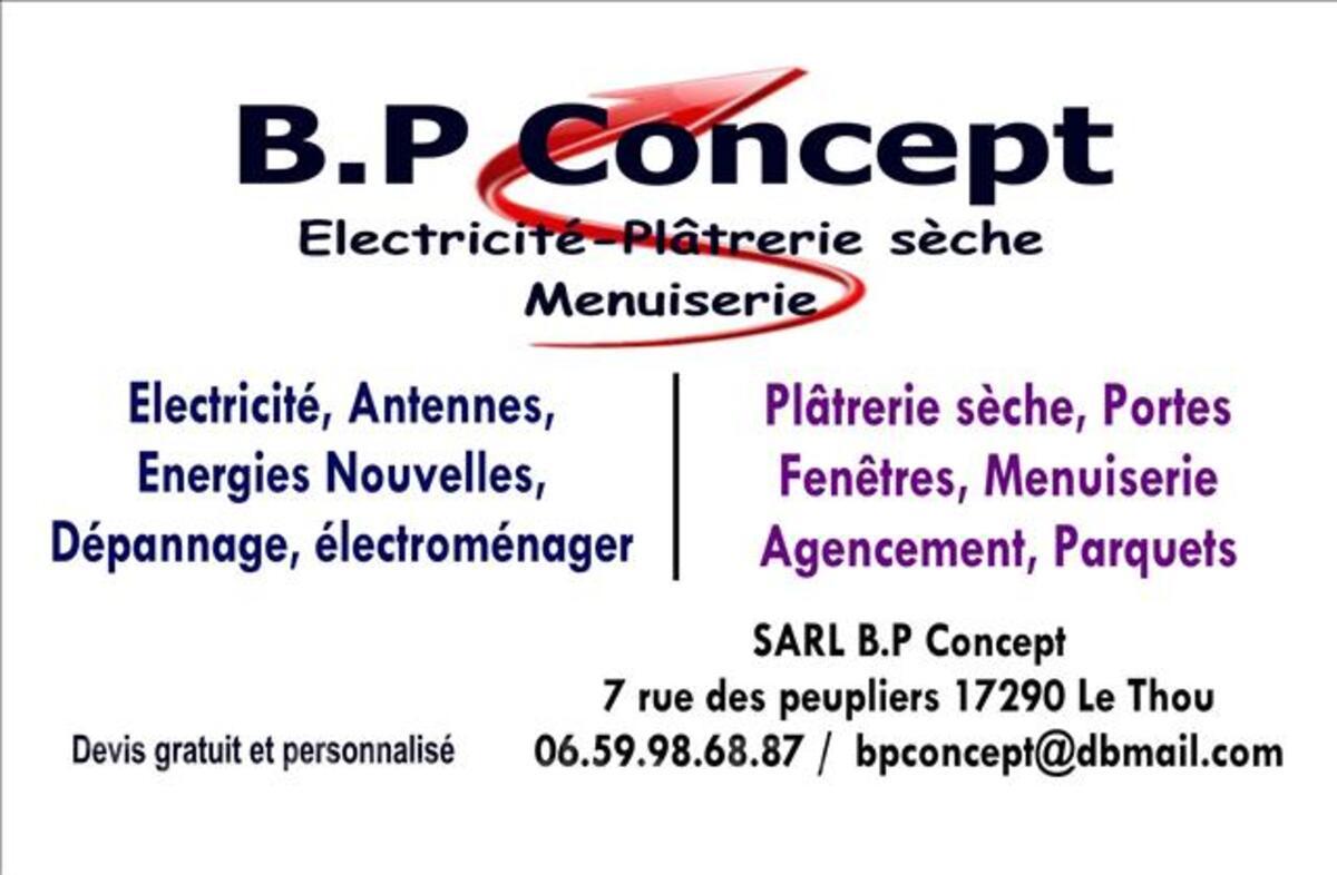 BP CONCEPT SARL électricité, menuiserie, plâtrerie sèche. 7633653