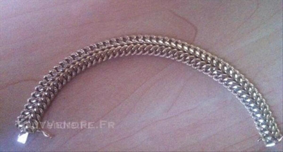 Bracelet gourmette maille Américaine or 18carats 45848773