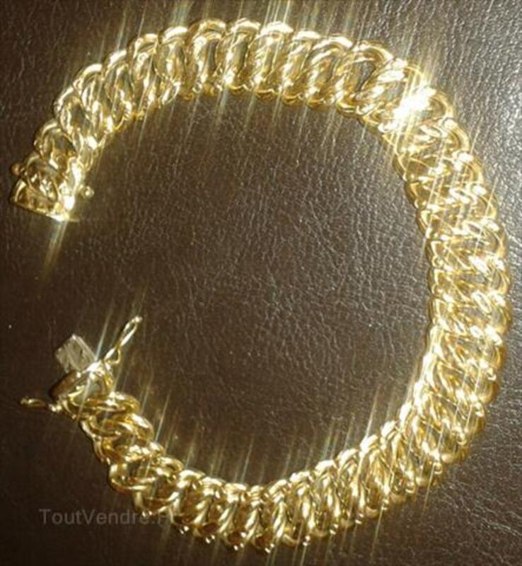 Bracelet maille americaine en or 18 carats 64423875